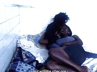 'black Lesbo Beauties Finger Each Other To Orgasm'