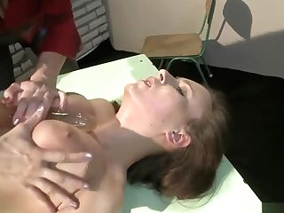 Big Titted Beauty With A Splendid Culo Fulfills Her Restraint Bondage Fantasies