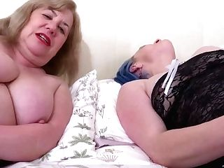 'oldnanny Two Buxomy All Girl Matures Luving Some Fucky-fucky Playthings'