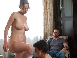 Step-dad Hotwife His Lesbo Family Therapy