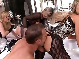 These Buxom Blondes Turn Into Perverse Bang-out Deviants When Rocco Is Around. They Fuck Each Other With Big Strapon Rods And Make Their Cooters Spunk
