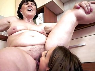 Youthful Brown-haired Kerry Loves In Hot Lezzy Romp