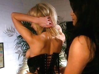 Buxomy Horny Lezzie On Corset Dora B Desires To Kittle The Humid Cunt