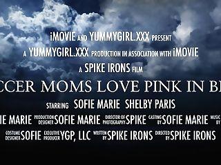 Soccer Moms Love Pink In Blue