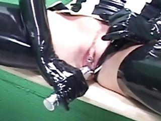 Spandex Girly-girl Rubberdoll Face Fucks Nadia Nitro!