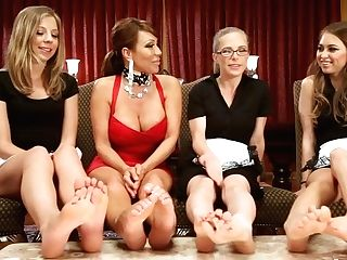 Crazy All Girl, Kink Adult Scene With Amazing Superstars Riley Reid, Penny Pax And Ava Devine From Foot Service