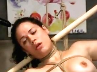 Lesbian Domination Bondage & Discipline Strap-on Facefuck And Gagging On Her Own Piss