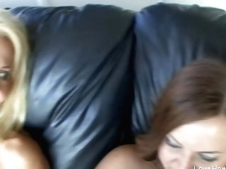 Two Gorgeous Lezzie Chicks Are Masturbating Together
