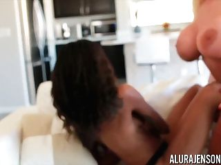 Alura Jenson And Bailey Ray Have Joy With A Belt Cock